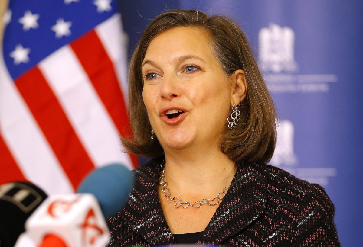File Photo: US Assistant secretary of State for European and Eurasian Affairs Victoria Nuland delivers a speech at the end of her meeting with Romanian Foreign Minister Titus Corlatean, at the Romanian Foreign Ministry Headquarters, in Bucharest, Romania, 11 January 2014. EPA, ROBERT GHEMENT