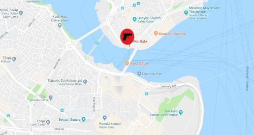 Χάρτης της Κωνσταντινούπολης όπου σημειώνεται η περιοχή στην οποία έγινε η επίθεση Πηγή: via Google Maps