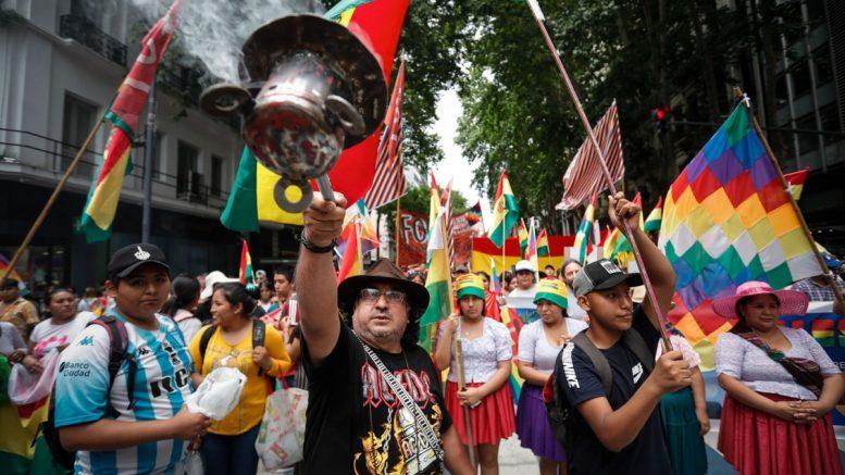Αποτέλεσμα εικόνας για foto Βολιβία: Οι κοκαλέρος διαδηλώνουν