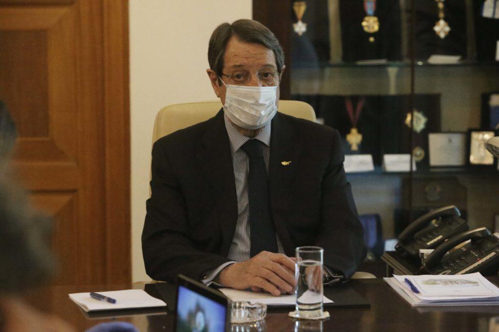 Ευχαριστίες στον «μασκοφόρο» πρόεδρο Αναστασιάδη: Επιτέλους ...