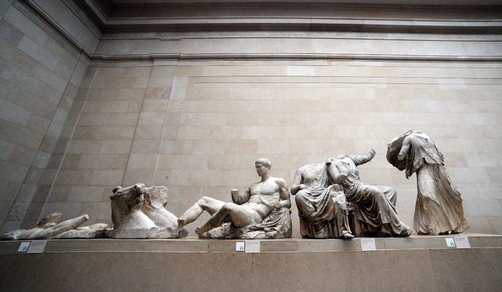 Τα Γλυπτά του Παρθενώνα στο Βρετανικό Μουσείο © EPA/FACUNDO ARRIZABALAGA