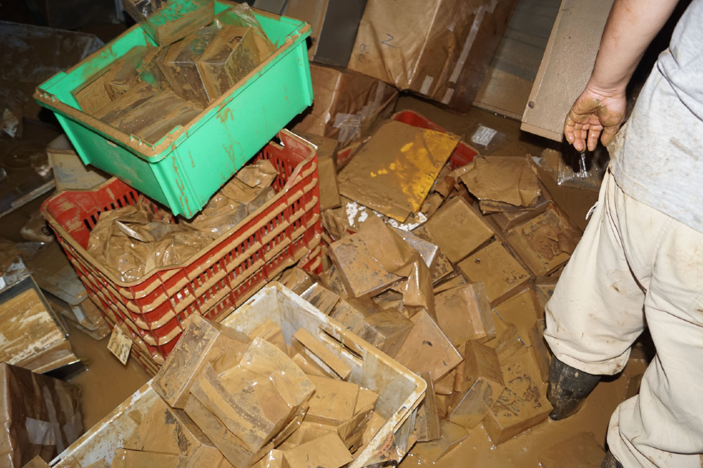 Ζημίες προκάλεσε η καταστροφική πλημμύρα στο Αρχαιολογικό Μουσείο της Καρδίτσας , Τρίτη 22 Σεπτεμβρίου 2020. Συγκεκριμένα, το σύνολο του υπόγειου χώρου του μουσείου γέμισε με νερά και λάσπη σε ύψος τουλάχιστον 2 μέτρων. ΑΠΕ-ΜΠΕ/ΥΠΟΥΡΓΕΙΟ ΠΟΛΙΤΙΣΜΟΥ/STR