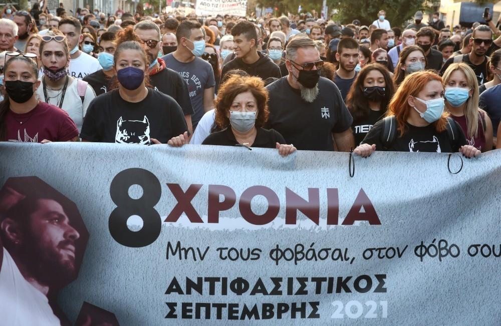 Αντιφασιστική πορεία στο Κερατσίνι για τα 8 χρόνια από τη δολοφονία του Παύλου  Φύσσα   Hellasjournal.com